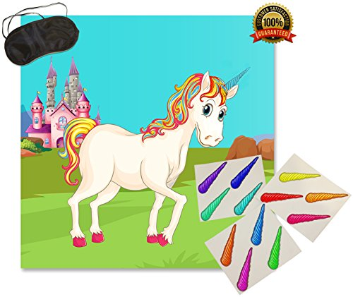 Tail Horn (Pin The Horn On The Unicorn - Easy Kids Birthday Party Game | Great as a Wall Decoration)