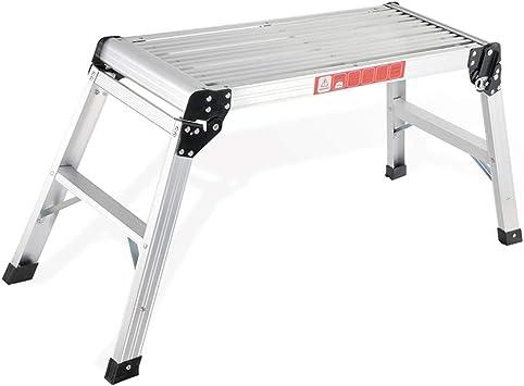 QFF Lavado de coches Plataforma Escalera, plegable multifunción Tabla Familia/Hotel/trabajo al aire libre Escalera de pescar portátil Escalera del taburete doblez (Size : 41.5 * 107 * 50cm): Amazon.es: Bricolaje y herramientas