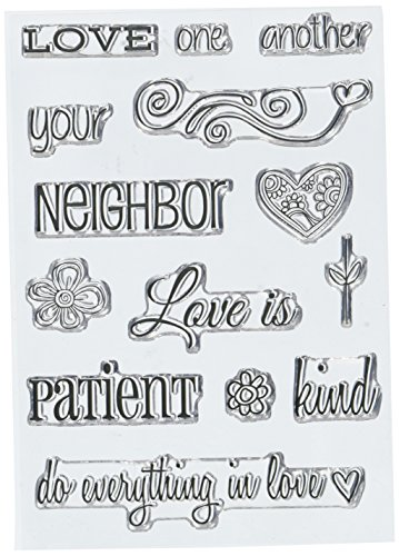 SRM Stickers Love One Another Clear Stamp with Image ()