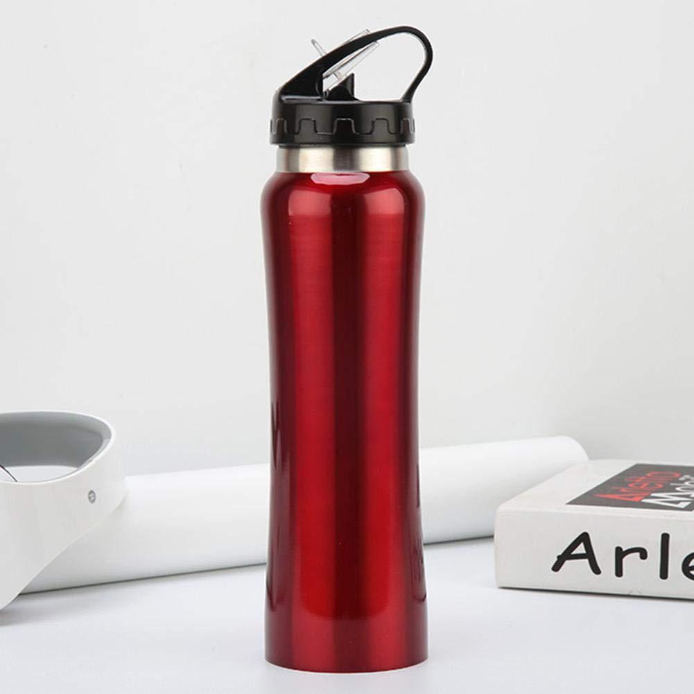 Frasco Doble De Acero Inoxidable Botella De Agua Port/átil con Pajita Aislamiento De Viaje Al Aire Libre Botella Deportiva Calidad Y Durabilidad Confiables