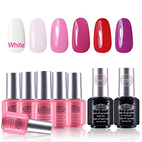 Perfect Summer Gel Nail Polish Kit - UV/LED Soak Off Colors