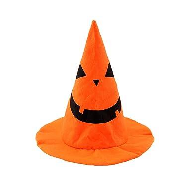 Yingniao Halloween Hut Orange Pumpkin Hut Verkleidung Hüte für ...