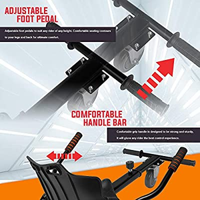 Hover Kart Seat Attachment Holder for Self Balancing Scooter Hoverboard Adjustable HoverKart Go Kart Hoverboard Accessories : Sports & Outdoors