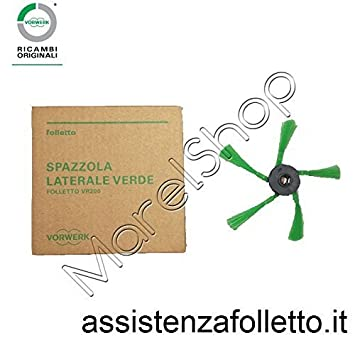 cepillo lateral original Vorwerk Robot aspiradora Folletto VR 200: Amazon.es: Hogar