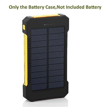 Solar Power Bank Cover 10000mAh Cargador Solar Portátil Dual ...