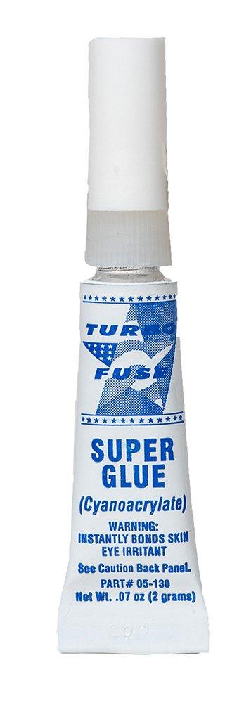 Turbo Fuse General Purpose 100cp Cyanoacrylate Adhesive - Equivalent to Loctite 404. 2 Gram Aluminum Tubes - Case of 144