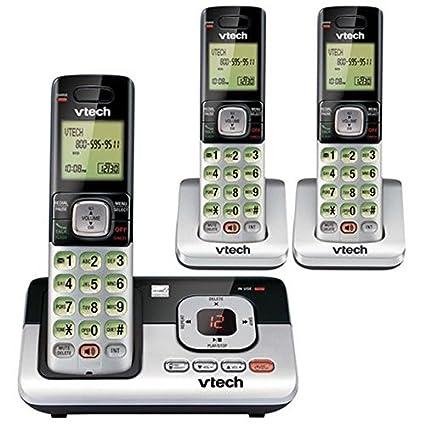 CS6829-3 3-Auricular Inalámbrico Contestador de llamadas con identificador de llamadas / llamada
