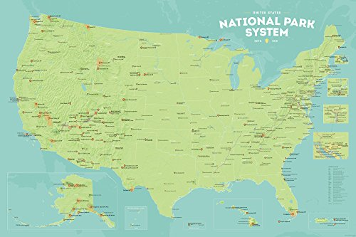 Best Maps Ever National Park System Units Map 24x36 Poster
