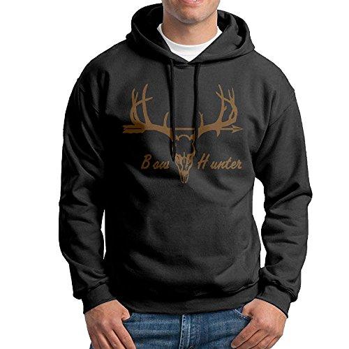 Deer Hunter Jackets (TT&Hoodie Bow Hunter With Deer Skull Mens' Jacket Pullover Hooded Sweatshirt)