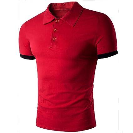 Camisa Hombre Camisetas Casuales de Moda de Verano Camiseta de Manga Corta Deportivas Tees Tops Blusa