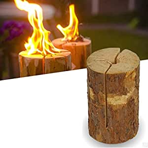 50 cm Log Fire con integrado para usar en lámparas solo al aire libre