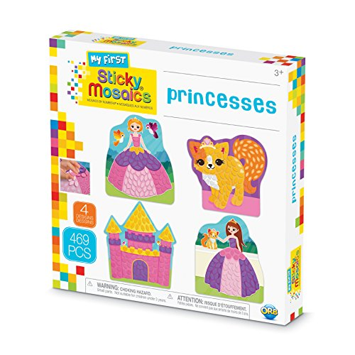 The Orb Factory Sticky Mosaics My First Princesses Arts & Crafts, Purple/Pink/Yellow/Blue, 9.5
