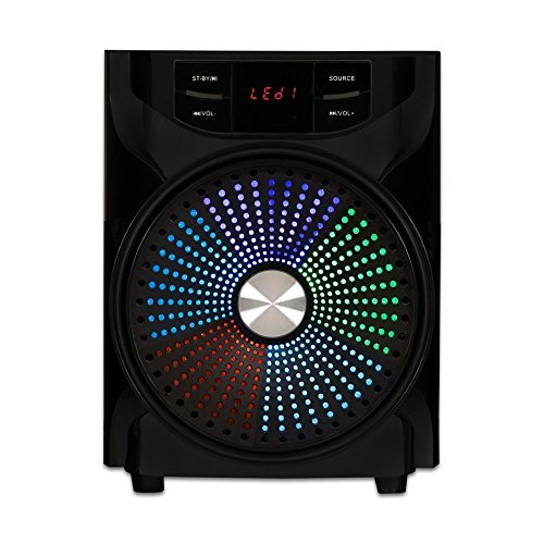 Acoustic Audio AA2104 Bluetooth Home 2.1 Speaker System with LED Display and 2 Ext. Cables by Acoustic Audio by Goldwood
