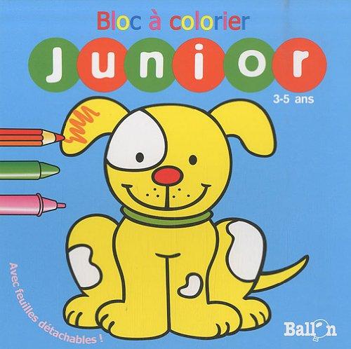 Coloriage Ballon Pdf.Bloc A Colorier Junior 3 5 Ans Chien Pdf De Ballon
