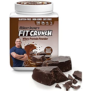 FITCRUNCH Tri-Blend Protein   Designed by Robert Irvine   130 Calories, 24g of Protein & 1g of Sugar   Mixology Technology, Gluten Free, Soy Free & Non-GMO (Chocolate Deluxe)