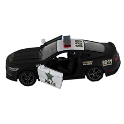 Kinsmart 2015 Ford Mustang Gt Black & White State Police Squad Car 1/36 Scale Diecast Interceptor: Toys & Games