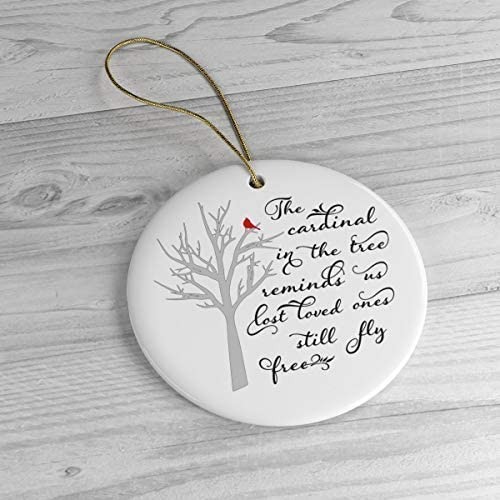 Personalized Memorial Ornament Baby Small White Stoneware Feather