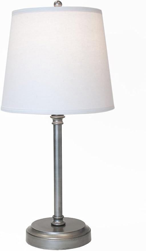 Amazon.com: Capri - Lámpara de mesa de peltre para uso en ...