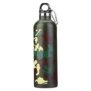 KWOSJYAL 750ml Botella de Agua con Aislamiento al vacío ...