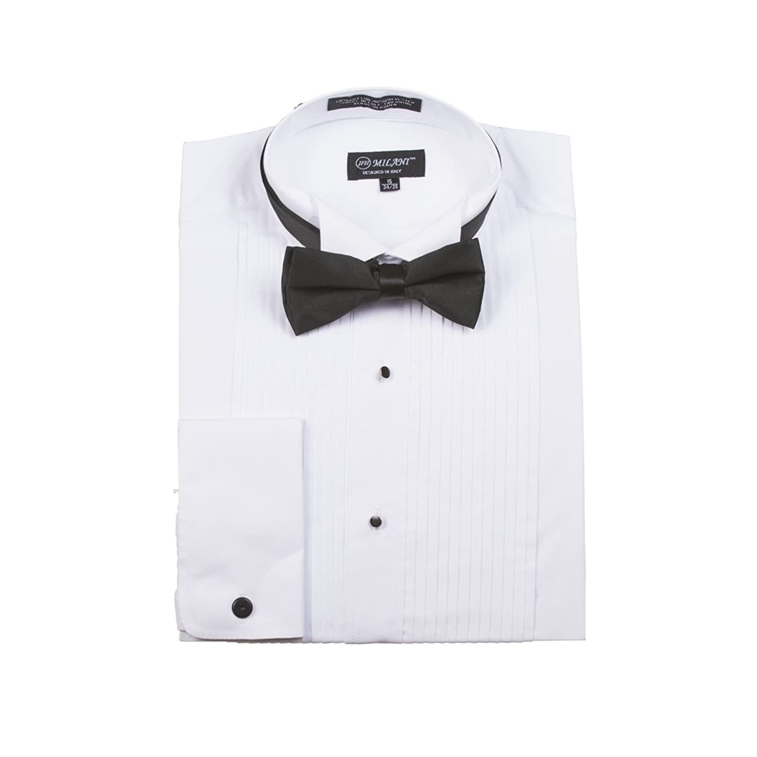 2132ab18fc2 Men s Tuxedo Shirts with French Cuffs and Bow Tie