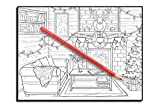 Country Cabins Coloring Book: An Adult Coloring