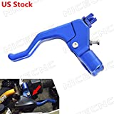 NICECNC Universal Blue CNC Short Stunt Clutch Lever for Most Motorcycles with cable clutch (Can't Fit Hydraulic Clutch Motorcycle)