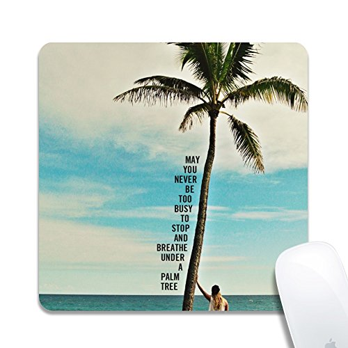 (Royal up Personalized Palm Tree Official Desktop Or Gaming Ergonomic Medium Large Cloth Surface Natural Rubber Square Mousepad(20x0.3cm))