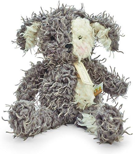 Bunnies By The Bay Shaggy Fetch Pup Plush Toy, Grey/Cream