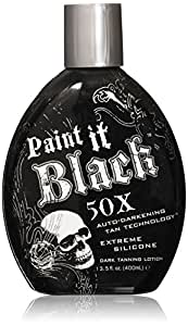 Millenium Tanning Paint It Black 50X Indoor Dark Tanning Lotion, 13.5 Fl Oz, 3 Count
