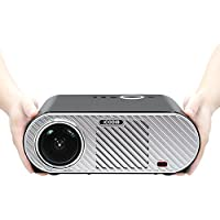 iCODIS G6 Video Projector, Supports 1080P, 3200 Lumens LCD, HD resolution, 3000:1 Static, Multimedia Home Theater Digital Projector.