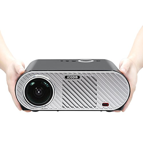 iCODIS G6 Video Projector, Supports 1080P, 3200 Lumens LCD, HD resolution, 3000:1 Static, Multimedia Home Theater Digital Projector. by iCODIS