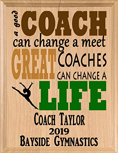 Broad Bay Gymnastics Coach Gifts Personalized Coaches Gift Team Appreciation Thank You Plaque