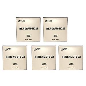 Le Labo Bergamote 22 Bath Soap - lot of 5 - each 2oz bars. Total of 10oz