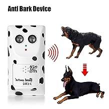 Dog Bark Controller, Humane Ultrasonic Anti Bark Device Stop Barking Machine Control Dog Barking Silencer Easy Hanging/Mounting On Wall-Mounted for Home Use
