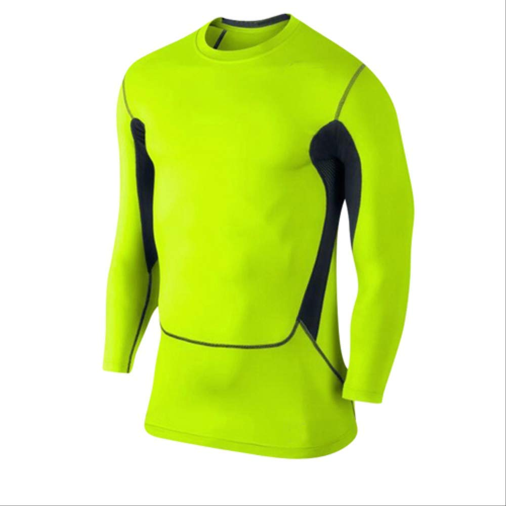 vert XXL NUASH EntraîneHommest Soccer Jersey Gilet Compression Fitness T-Shirt Costume Serré Costume De Sport Maigre Chemises Longues pour Hommes