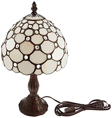 Amora Lighting AM116TL08 Tiffany Style Table Lamp 8 In Wide
