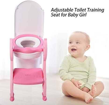 Orinal de aprendizaje con escalera, asiento de inodoro para niños, asiento de inodoro para niños, asiento de inodoro con escalera: Amazon.es: Bebé