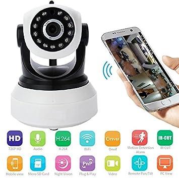 NEXGADGET Cámara de Seguridad Vigilancia 1080P HD WiFi Interior Audio Bidireccional Pan & Tilt Visión Nocturna