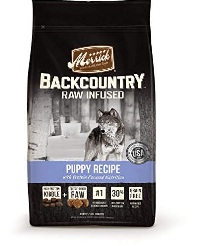 Merrick Backcountry Grain Free Raw Infused Puppy Dry Food, 12 lbs.