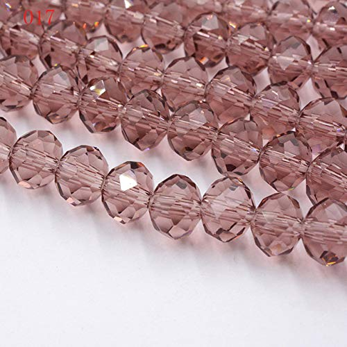 (Calvas New!! 8MM 70pcs/lot Clear/Transparent Cut Faceted Glass Stand Beads Strings Red/Purple/Pink/Blue - (Color: 017))
