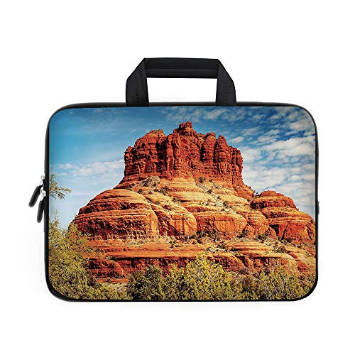 (Western Laptop Carrying Bag Sleeve,Neoprene Sleeve Case/Famous Bell Rock and Courthouse Butte in Sedona Arizona USA Nature Desert Decorative/for Apple Macbook Air Samsung Google Acer HP DELL Lenovo As )