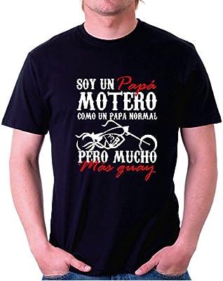 Camiseta Motor Soy un Papa Motero Custom (2XL): Amazon.es: Coche y moto