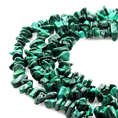 BRCbeads Nice Malachite Stone Chips Beads 7~8mm 34 Inches per strand For Jewelery Making