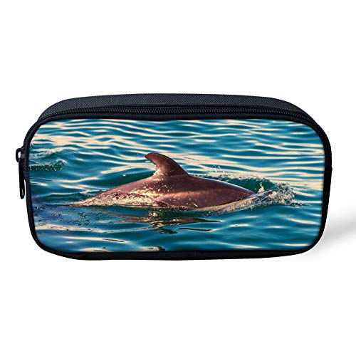 Pen Bags Cool Teen Girls Boys Pencil Case Kids Coin Storage Bag with Smooth Zipper and Big Capacity Personalized Shark 3D Pattern