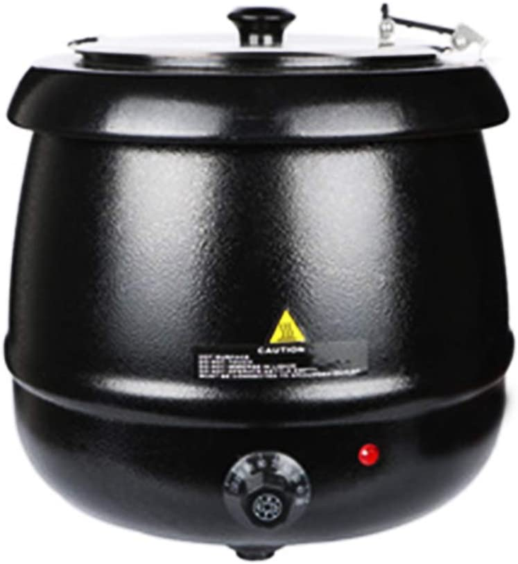 Commercial Grade Soup Kettle, Slow Cooker with Lid and Sealing Ring, Ideal for Restaurants, Buffets, Dining, Parties, 2-Year Warranty