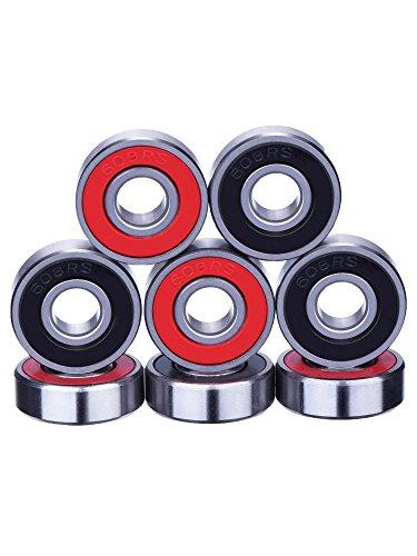 8 Pieces Bearings Skateboard Bearings Longboard Roller Skate Bearings 608...