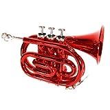 Cherrystone 4260180881752 Taschentrompete Pocket Trompete rot