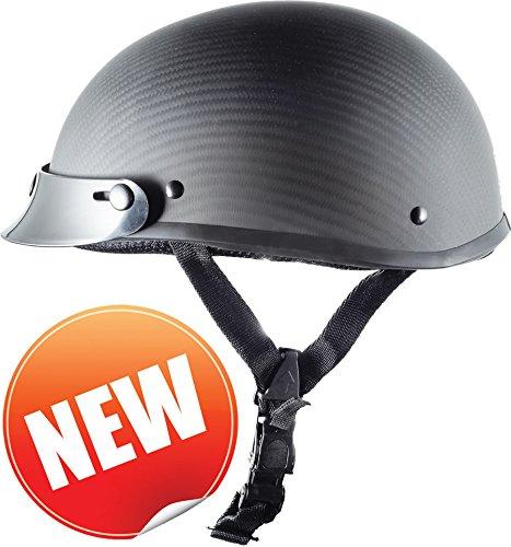 Low Profile Carbon Fiber Motorcycle Helmets - 4