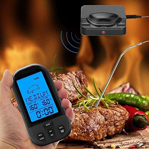 4 Wireless Digital Thermometer Barbecue Temperature