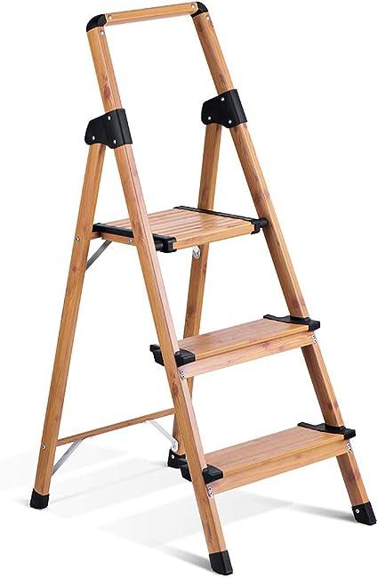 330lbs Bonnlo 2 Step Ladder Lightweight Aluminum Step Stool Folding Stepladder with Anti-Slip Pedal